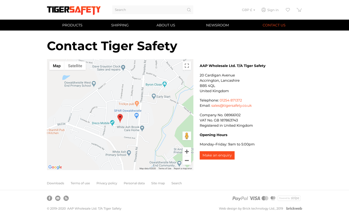 Tigersafety Contact us