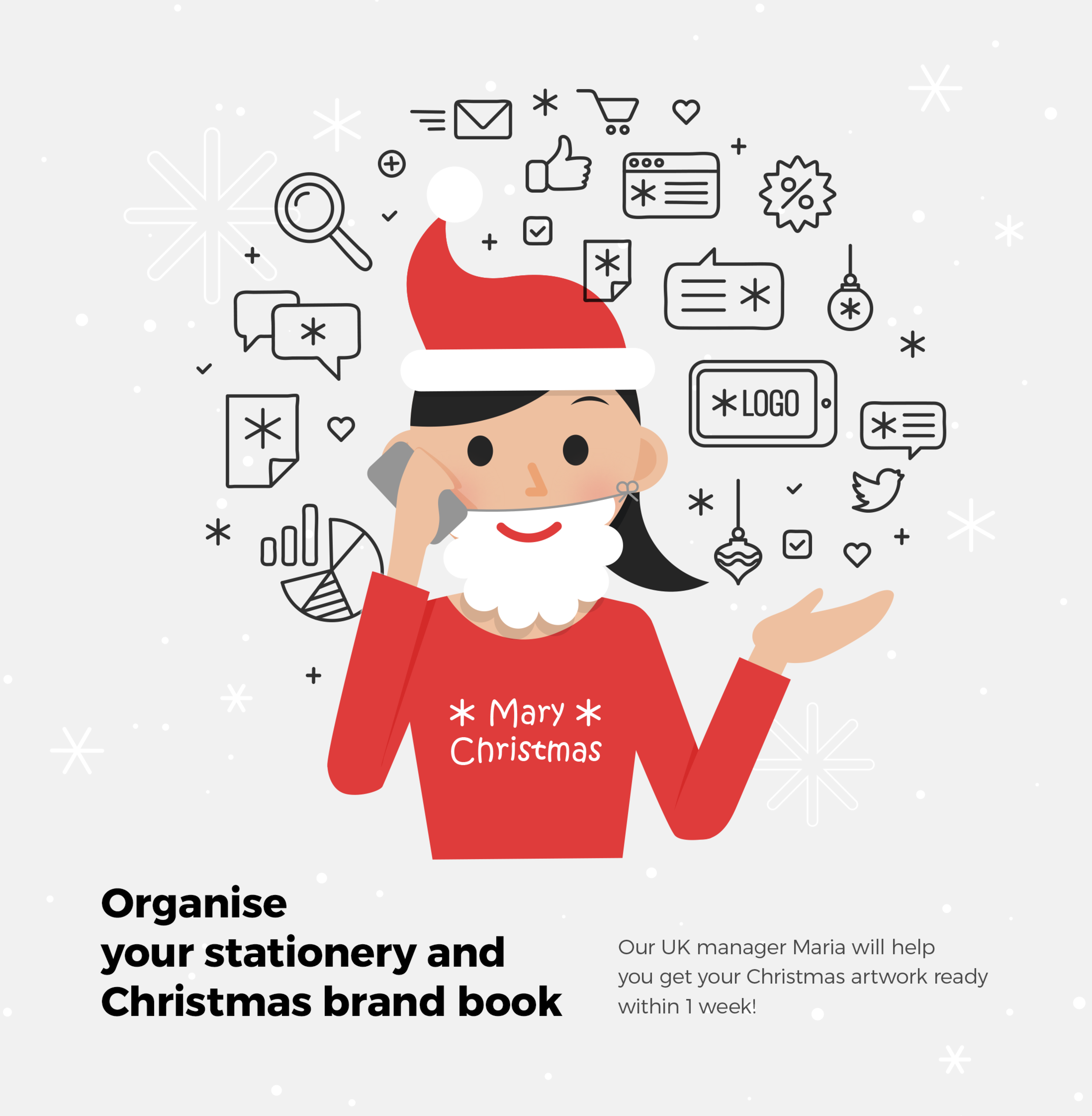 Organise your Stationery and Christmas brand book!